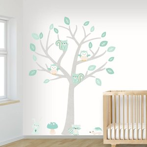 1e30a1ad32e220 Muurstickers Babykamer Kinderkamer Boom | Gratis verzending v.a. ...