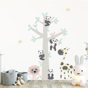DecoDeco Muursticker Boom Panda's pink