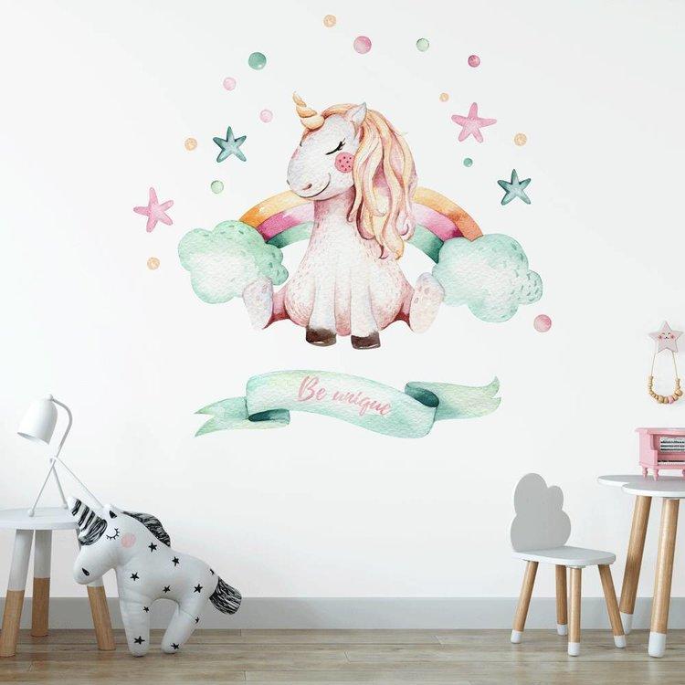 Muursticker Unicorn 1 Be unique