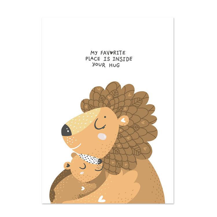 Poster kinderkamer Little hugs 2