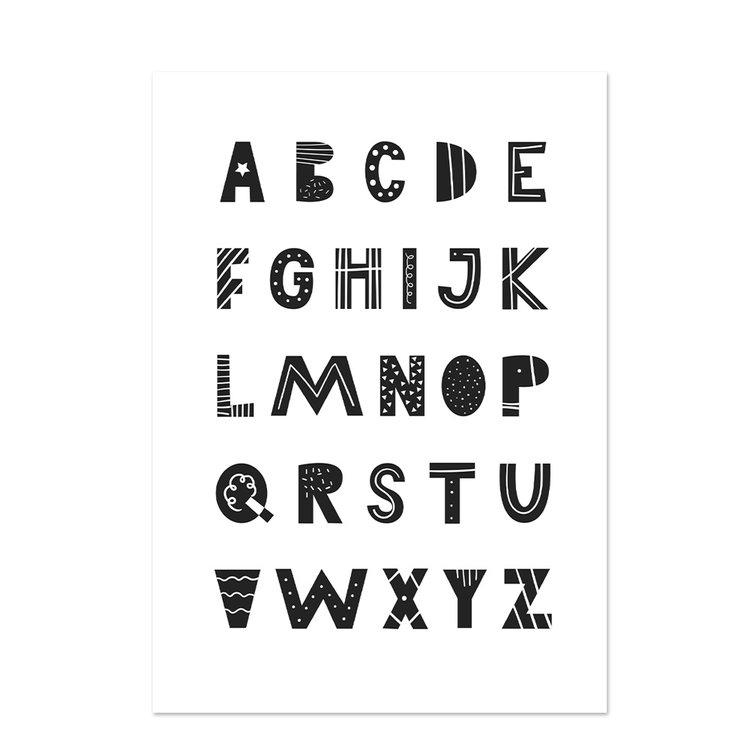 Poster kinderkamer Black & White 16