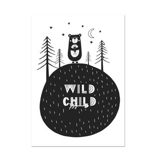 Poster kinderkamer Black & White 18