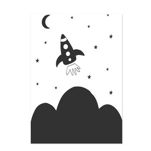 Poster kinderkamer Black & White 19