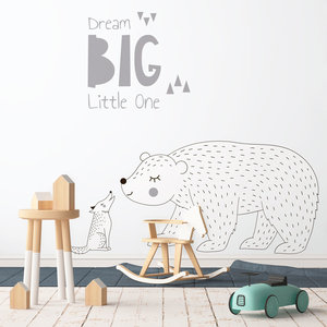 Muursticker Dream Big - Grey