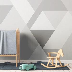 Behang Bergen abstract grey