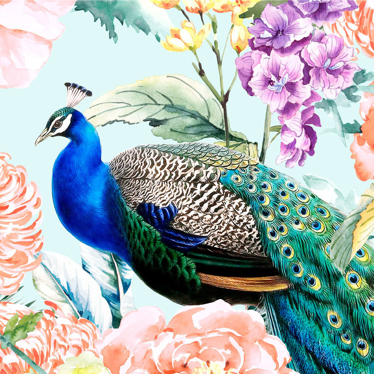 Behang Paradise 1 - blue