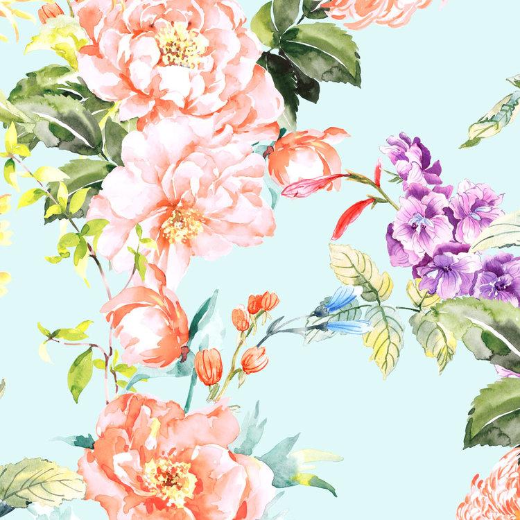Behang Paradise 2- blue