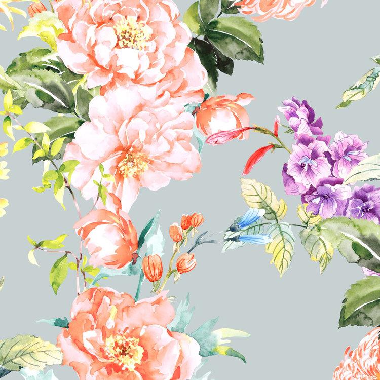 Behang Paradise 2- grey