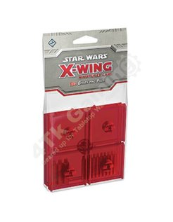 Red Bases and Pegs Accessory: X-Wing Mini Game