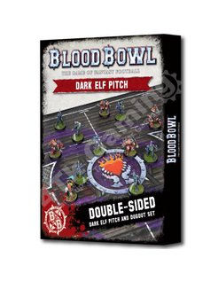 Blood Bowl Dark Elf Pitch & Dugouts
