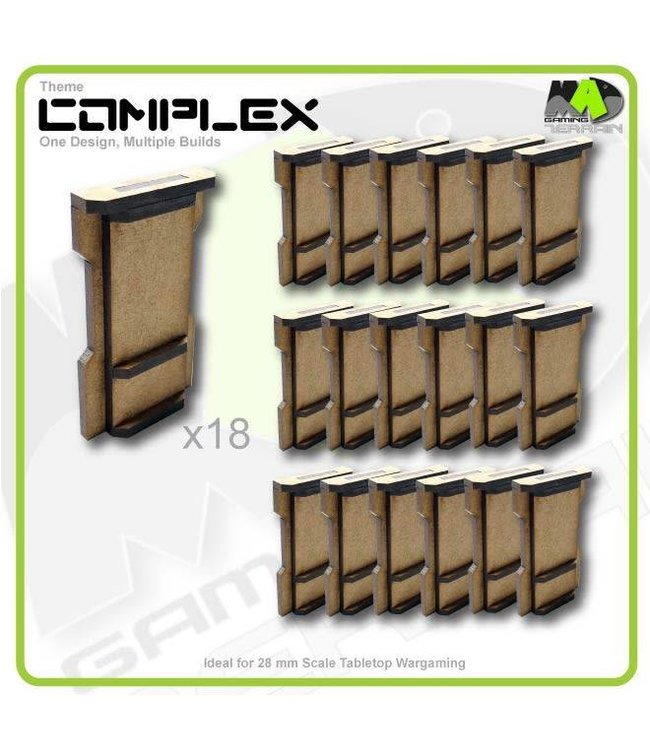 MAD Gaming Terrain Small Wall Ends set x18