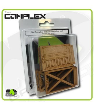 MAD Gaming Terrain Detailing pack - Industrial Set (Small wall inserts)