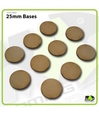 MAD Gaming Terrain 25mm MDF Round Bases x10