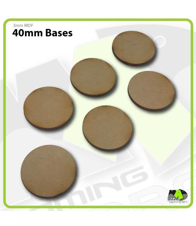 MAD Gaming Terrain 40mm MDF Round Bases x6