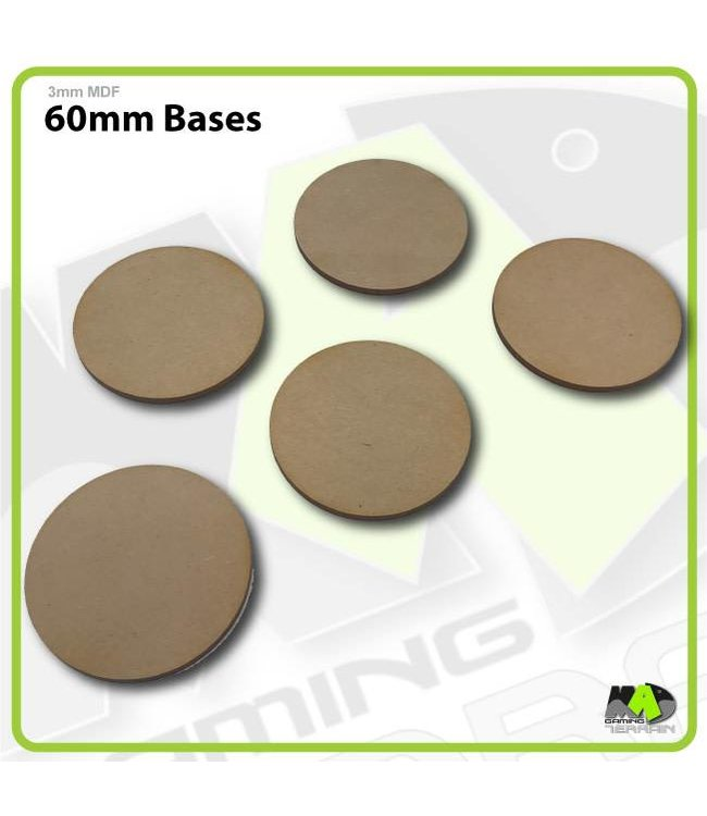 MAD Gaming Terrain 60mm MDF Round Bases x5