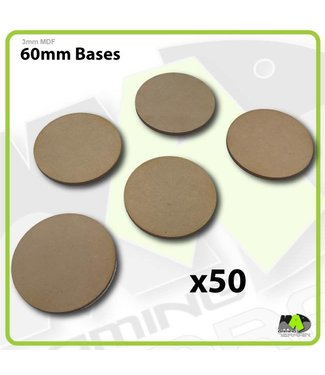 MAD Gaming Terrain 60mm MDF Round Bases x50