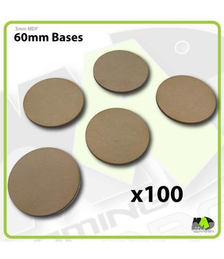MAD Gaming Terrain 60mm MDF Round Bases x100