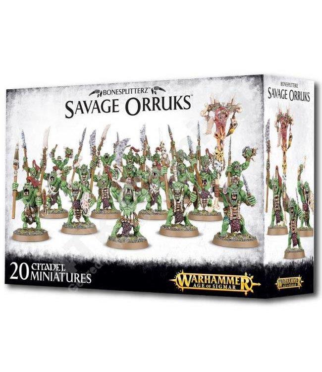 Age Of Sigmar Bonesplitterz Savage Orruks