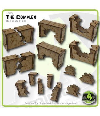 MAD Gaming Terrain Ruined Wall Sections set