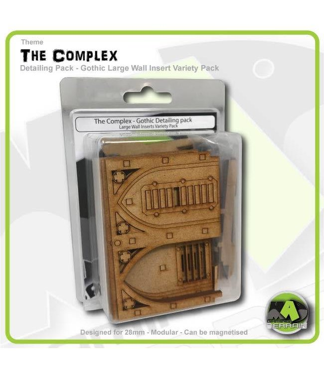 MAD Gaming Terrain Gothic Large Wall Detailing Insert Variety Pack