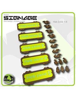 Hab Zone Signage set 1