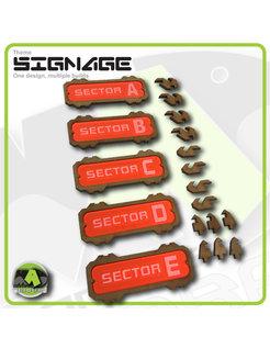 Sector Signage set 1