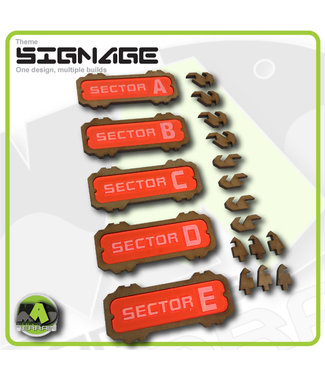 MAD Gaming Terrain Sector Signage set 1