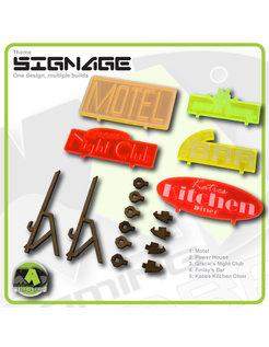 Hab Block Signage set 1