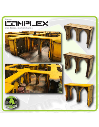 MAD Gaming Terrain Double Arch Large Wall Sections