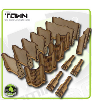 MAD Gaming Terrain Town Walls - Expansion set