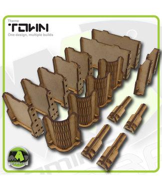 MAD Gaming Terrain Town Walls - Standard set