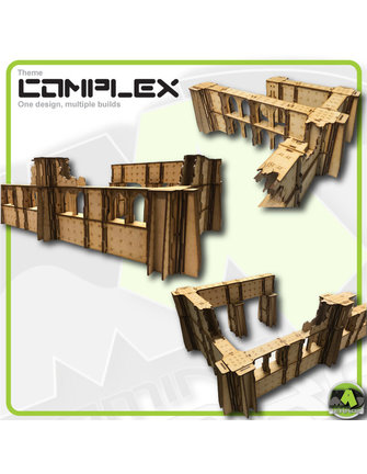 MAD Gaming Terrain Double Height Large Wall End