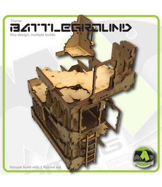 MAD Gaming Terrain Ruined Hab Block - Standard