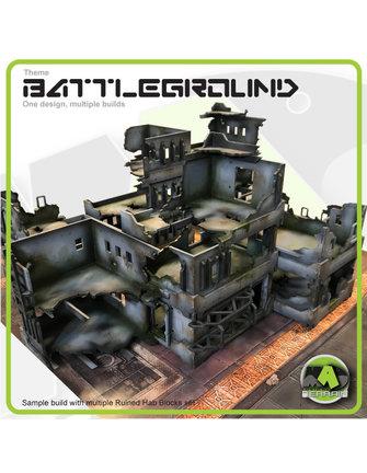 MAD Gaming Terrain Ruined Hab Block - Standard