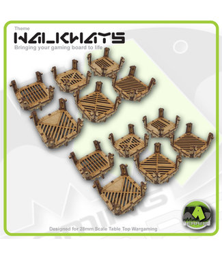 MAD Gaming Terrain Walkway - Cross Section Set - Detailed