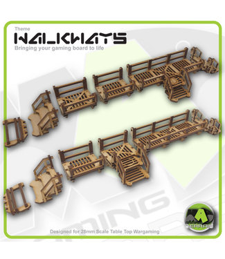 MAD Gaming Terrain Walkway - Standard Set - Detailed