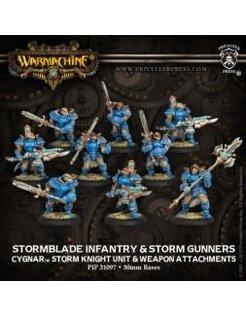 Cygnar Stormblade Infantry & Attachment (9) PLASTIC