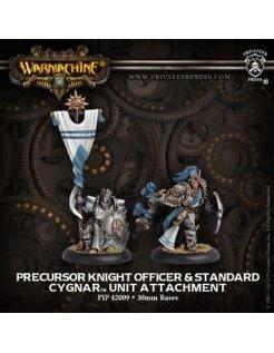 Cygnar Allies Precursor Knight Officer & Standard (2)