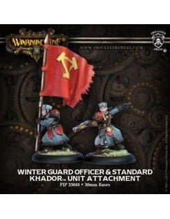 Khador Winter Guard Officer & Standard (2)