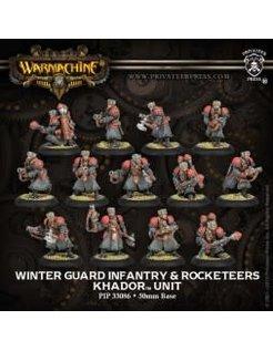Khador Winter Guard Infantry & Attach (13) PLASTIC