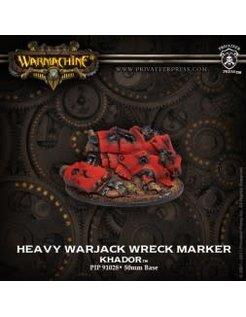 Khador WRECK MARKER Heavy Warjack metal