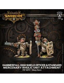 Mercenary High Shield Gun Corps Officer & Standard (2)