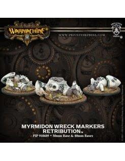 Retribution WRECK MARKERS Myrmidon (3) & Resin