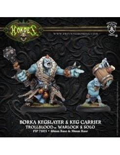 Trollblood Borka Kegslayer & Pyg Keg Carrier (2)