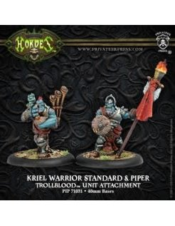 Trollblood Kriel Warrior Standard & Piper (2)