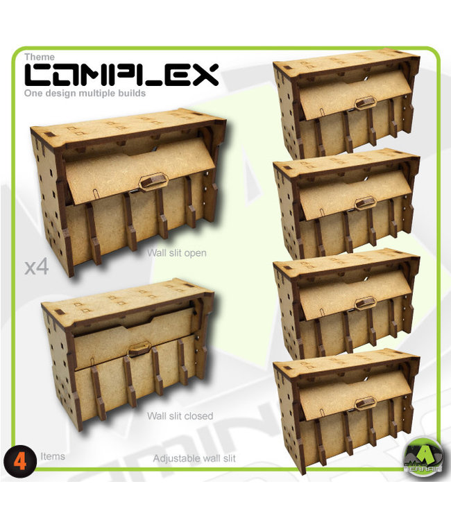 MAD Gaming Terrain Large Wall Bunker Slits