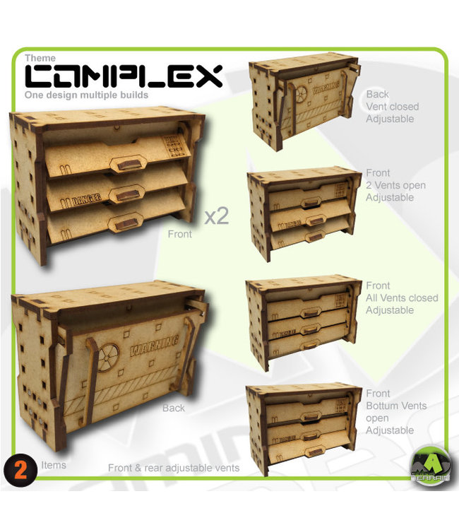 MAD Gaming Terrain Large Wall Vents