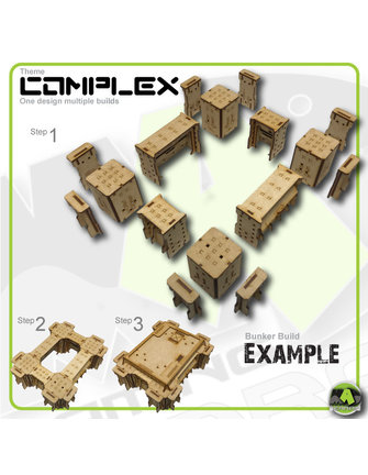 MAD Gaming Terrain Bunker Roof Variety Pack