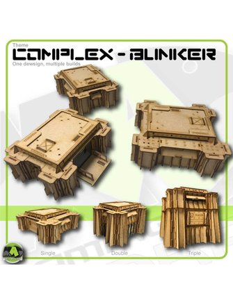 MAD Gaming Terrain Small Wall Bunker Slits