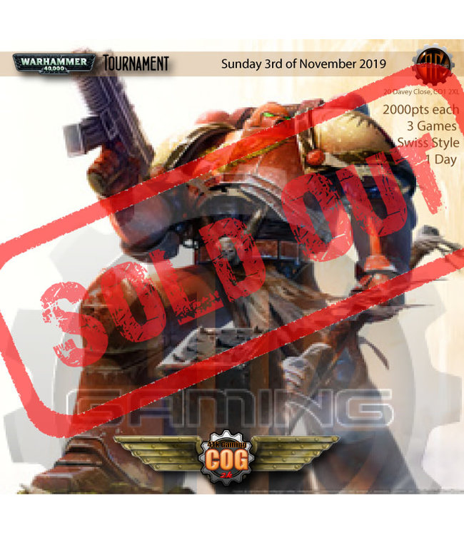 Tournaments COG 2K (3rd November 2019)